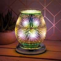 Touch Sensitive Round Electric Wax Melt Burner - Starburst | Bonnebombe